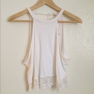 Forever 21 crop tank w/crotchet